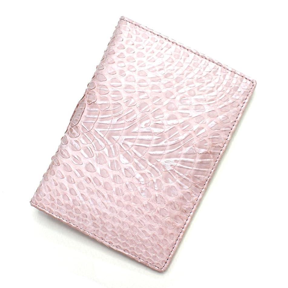 シットコムもっと少なく創造P-WV1165-PINK パイソン革 蛇革 カード入れ カードホルダー カードケース レザー 本革 薄型カード入れ 大容量 大量収納 パスポートサイズ L.size 柄 ウェーブ風型押し仕上げ ピンク