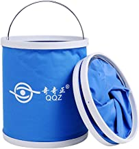 Chenjinxiang01 Portable folding bucket, 11L collapsible water container wash basin, outdoor travel, camping, hiking, car wash, picnic, fishing,Convenient storage (Capacity : 11L, Color : Blue)