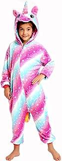 Girls Unicorn Pajamas Onesie, Halloween Animal Costume Gift for Kids
