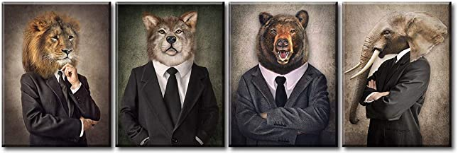 animal in suits portraits