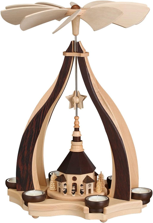 Design Pyramide Seiffener Kirche mit mit mit Teelichter Seiffen 47cm Erzgebirge NEU B015FCQDM6 1e8be2