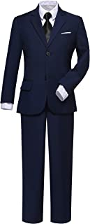 Visaccy Boys Suits Slim Fit Dress Clothes Ring Bearer Outfit