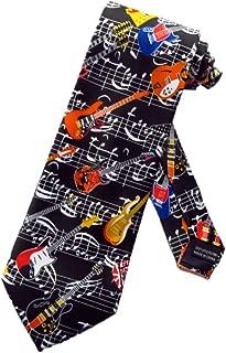 Mens Air Guitar Rock 'n Roll Necktie Ð Black Ð One Size Neck Tie