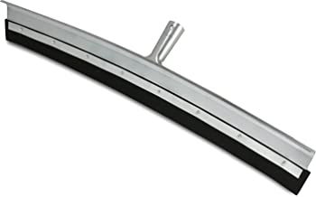 """Unger Professional AquaDozer MAX Smooth Surface Floor Squeegee, Silver, 24"""" Curved Squeegee"""