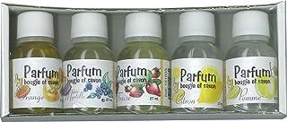 DTM - Loisirs créatifs - Parfum pour bougie et savon - lot de 5 flacons de 27ml - fruits