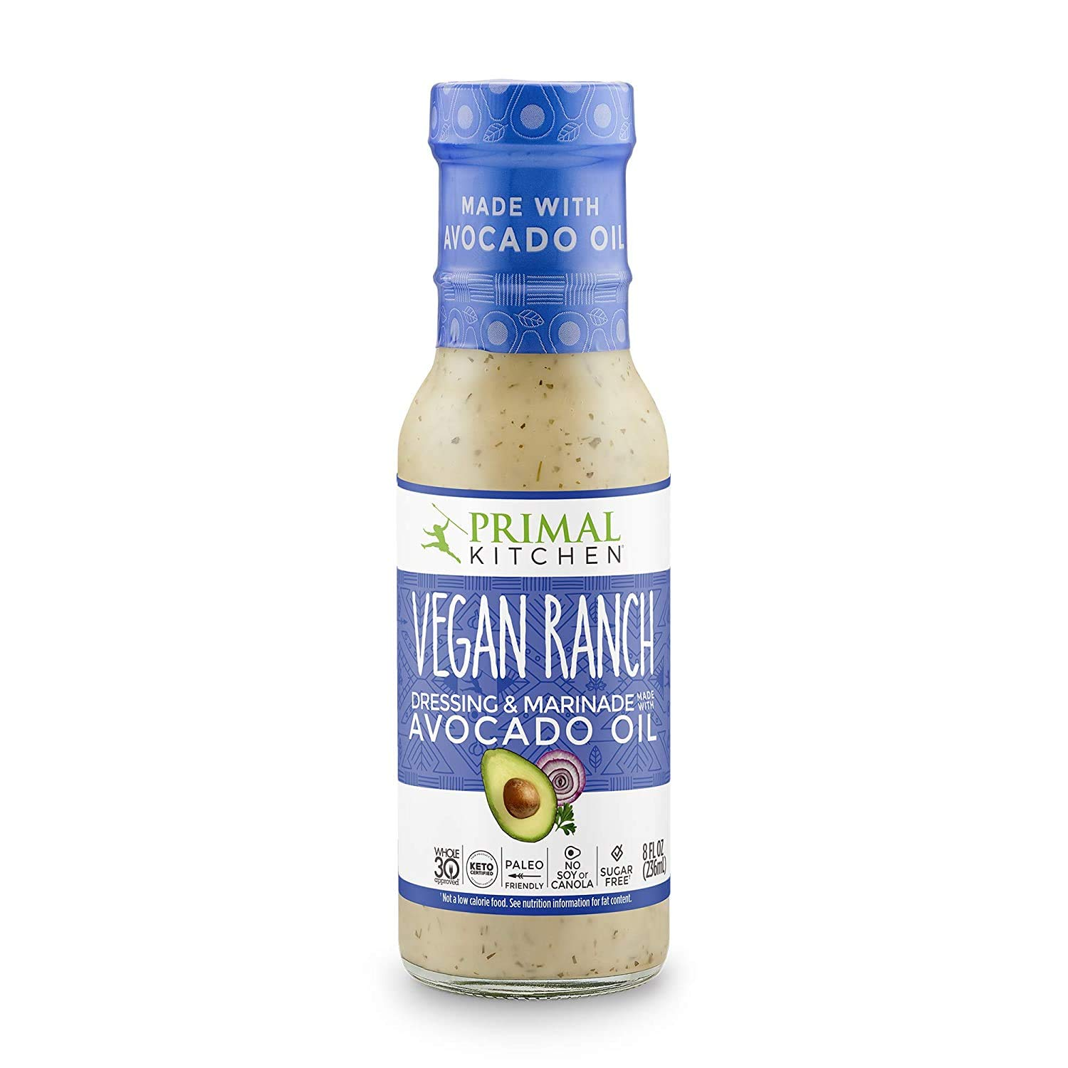Amazon Com Primal Kitchen Avocado Oil Based Dressing And Marinade Vegan Ranch Pack Of 1 Whole30 And Paleo Approved Grocery Gourmet Food