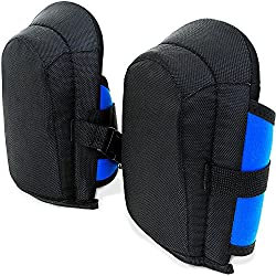 Deuba Gel Knee Pads Unisex Adjustable Fabric Straps Sturdy Knee Pad Knee Pads