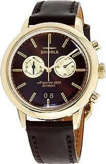 Shinola The Bedrock Bourbon Dial Leather Strap Men's Watch 20065288