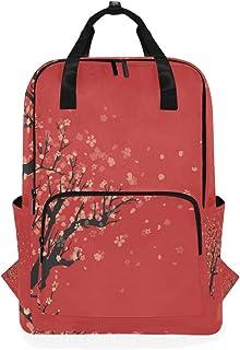 MONTOJ Mochila de Viaje Antigua artística Cherry Blossom Mochila Escolar