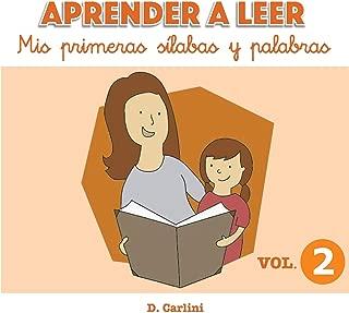 Aprender a leer. Mis primeras sílabas y palabras: Volumen 2 (Volume 2) (Spanish Edition)