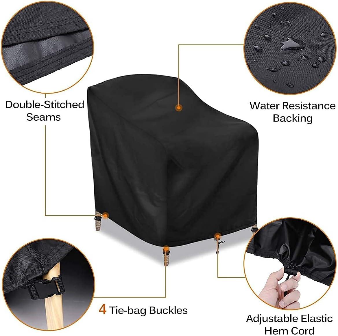 Pack de 2 fundas protectoras impermeables para sillas de exterior por 12,49€ con el #código: VLBR8QIR