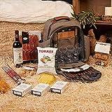 Mochila Picnic 4 personas con Productos Gourmet incluido, vino, jamón, chorizo, queso manchego, conservas, bizcochos ...