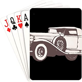NaNa Regular Playing Cards Retro Vintage Car Playing Cards for Teens Unique for Kids & Adults Card Decks Games Standard Size
