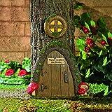 OTC Gartenzwerg Haustür in einem Baum, Kunststücke für den Außenbereich