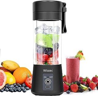 Wissec Portable Mixeur,Mini Blender Pour Smoothie Noir,Adapté Aux Smoothies et Milk-shake,Blender Portable de Fruits élect...