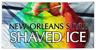 New Orleans Style Shaved Ice Outdoor Advertising Printing Vinyl Banner Sign With Grommets - 3ftx6ft, 6 Grommets