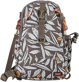 Fishing Tackle Bolsa de Almacenamiento Mochila Sling Bag Superficie Impermeable Capacidad de Volumen Multifuncional Bolsa de Deportes al Aire Libre 9.45 * 6.5 * 15.35 Pulgadas