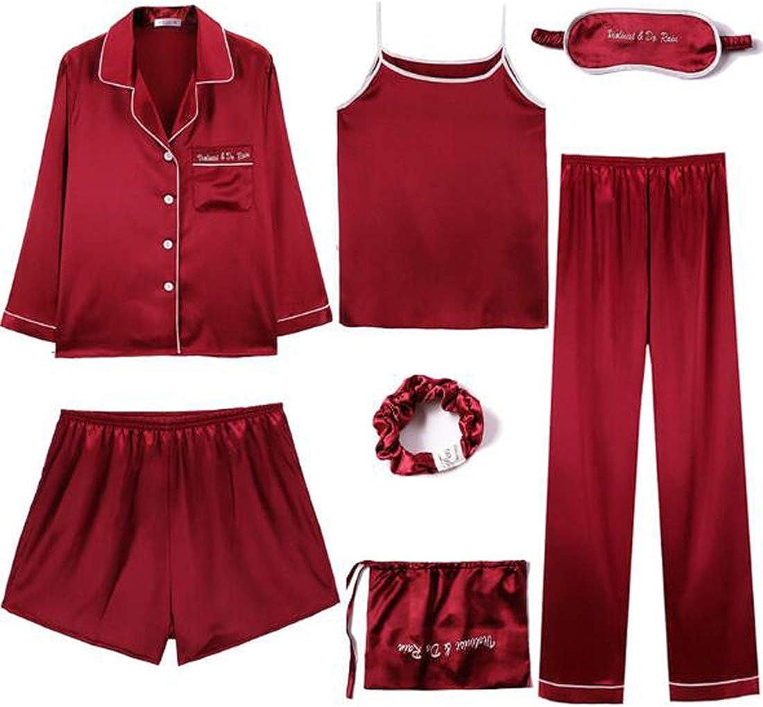 One Size Embellished Red Shorts Set Short Sleeves Elastic Waist