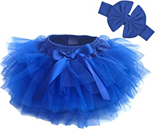 Dancina Baby Tutu Diaper Cover - Girls Cotton Skorts Headband Set Ages 6-24 mo