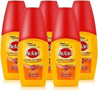 Autan Protection Plus Multi protección contra insectos atomizador 100ml–protege hasta 8horas de mosquitos, hasta 5horas contra STech volar como por ejemplo frenos (5unidades)