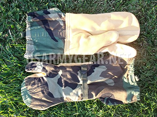 U.S MILITARY COLD WEATHER TRIGGER FINGER MITTENS Size: Large Shell Only