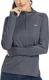 Willit Women's UPF 50+ Sun Protection Shirt Long Sleeve SPF Shirt Golf Running Hiking Tops Half-Zip Lightweight