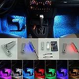 El interior del coche RGB multi - color Footstep Ambient luces LED con control remoto de luz LED para e90 e91 e92 E93 e60 e61 F01 F02 F03 F04 F10 F12 F18 E70 E71 E83 E84 e852pcs per set