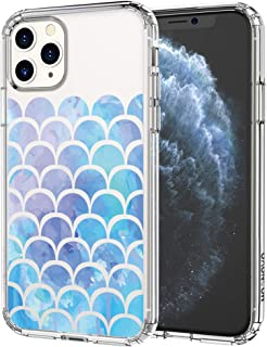 MOSNOVO iPhone 11 Pro Case, Mermaid Scale Pattern Clear Design Transparent Plastic Hard Back Case with TPU Bumper Protective Case Cover for Apple iPhone 11 Pro (2019)