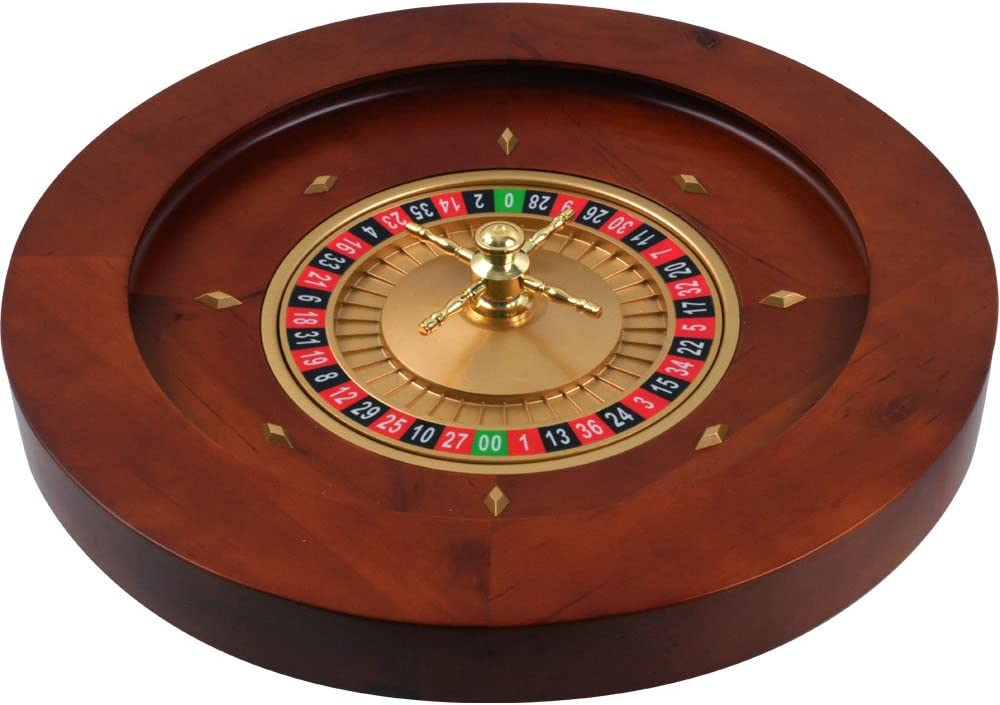 Trademark Poker Max 64% OFF 19.5-Inch OFFicial shop Deluxe Roulette Wheel Wooden
