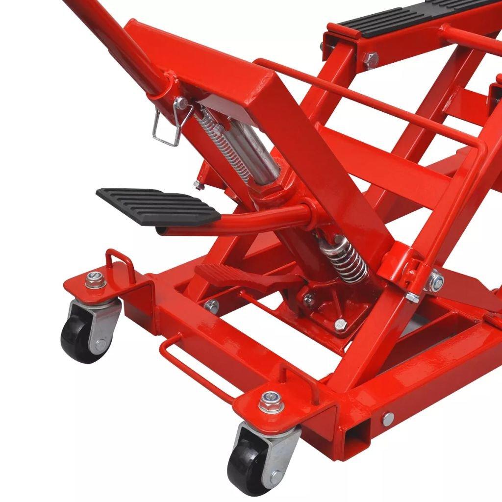 vidaXL Gato hidráulico ATV para motocicletas, 680 kg, rojo: Amazon.es: Coche y moto