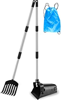 SKYFIELD Pooper Scooper, 3-Stage Extendable Length Metal Dog Poop Scooper for Large Dogs Pet Waste Pick Up, Premium Quality
