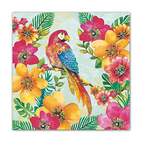 4 Déjeuner serviettes en papier pour découpage Table De Fête Craft Vintage Oiseaux sur Ilex
