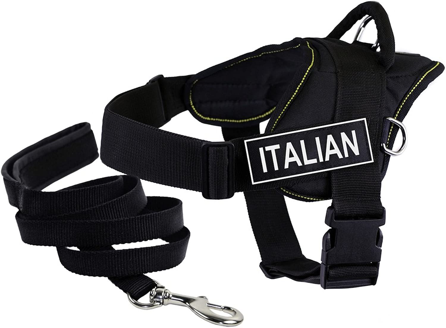 Dean & Tyler's DT Fun ITALIAN Harness, XXSmall, with 6 ft Padded Puppy Leash.