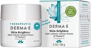 Derma-E Therapeutic Skin Brighten Cream Alpha-Arbutin, Licorice Extract & Vitamin C 2 OZ / 56 g