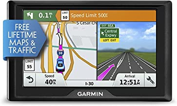 Garmin Drive 50 USA + CAN LMT GPS Navigator System with Lifetime Maps and Traffic, Driver Alerts, Direct Access, and Foursquare data (Renewed)
