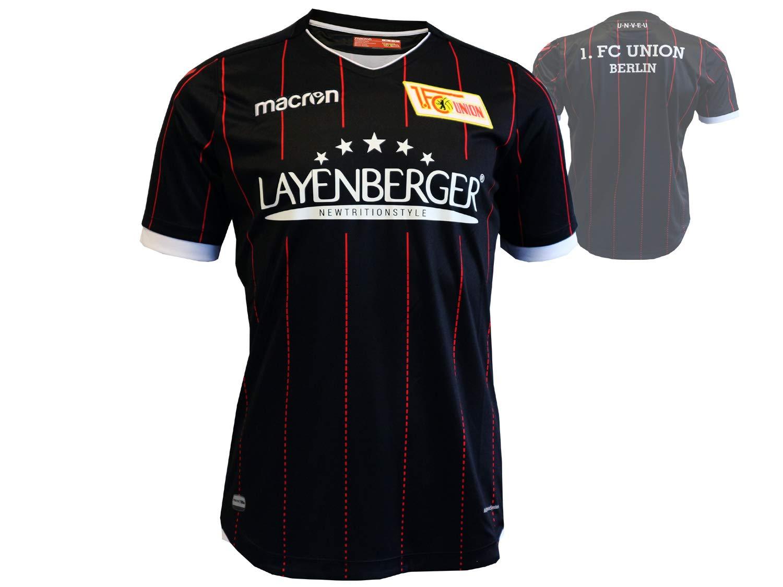 Macron 1. FC Union Berlin Niños Camiseta de fútbol Negro 17/18 FCU Away Jersey, Infantil, Negro/Rojo, 116: Amazon.es: Deportes y aire libre