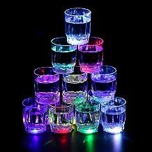 24PCS Flash Light Up Cups Flashing Shots Light 24 LED Bar Night Club Party Drink