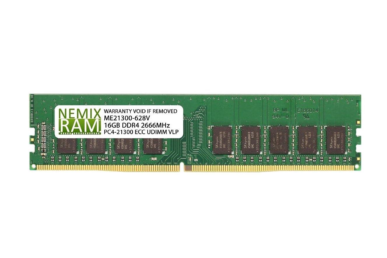 スカーフ統合するしないでくださいNEMIX RAM 16GB DDR4-2666 2Rx8 VLP ECC UDIMM インテルS1200SPL用
