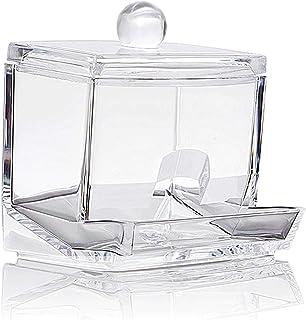 BBZZ Boîte de rangement avec couvercle en plastique transparent pour cotons-tiges (couleur : transparent)