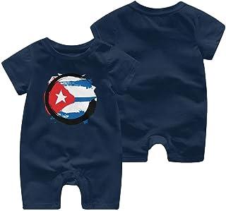 Ives Jean Baby ärmellose Bodysuits Kuba Flagge Zen Baby Boy Kurzarm Strampler Overall Baby Strampler 0-24 Monate