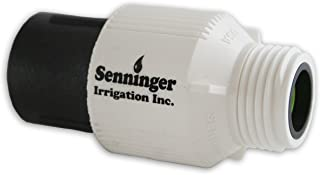 Senninger Pressure Regulator 25 PSI 3/4 Hose Thread Drip Irrigation Pressure Reducer Low Flow Valve - Landscape Grade High Performance