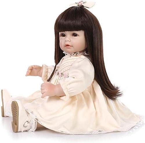 Simulation Reborn Baby Puppe Kann Stehen Kann Sätzen Vinyl Sch  Augen Tuch   Lebensechte Kinder Spielzeug Festliche Geschenk 19,7 Zoll   50cm   HOJZ