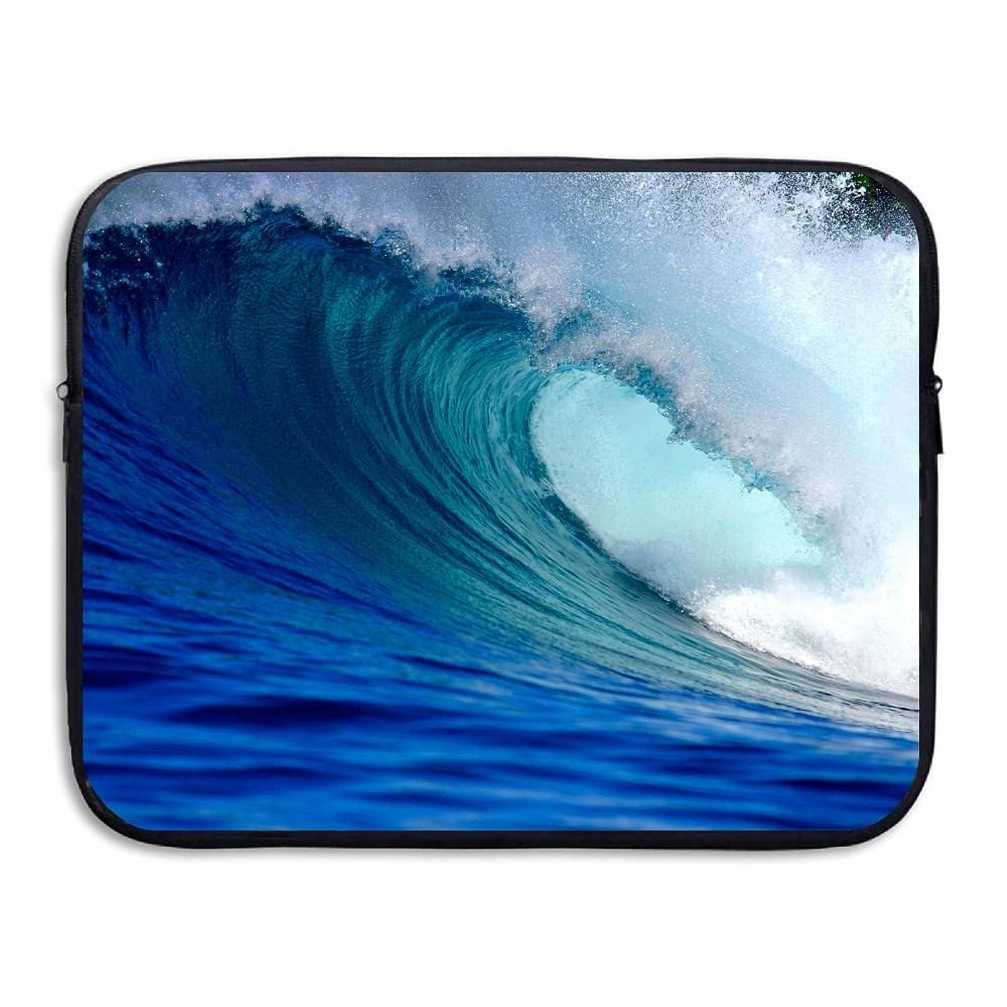 Sunmoonet Laptop Sleeve, Waves Blue 13 Inch 15 Inch Laptop Sleeve, Water Repellent Universal Portable Computer Liner Laptop Case Laptop Sleeves Notebook Bag Cover For Women Men gxcoehosgpr1