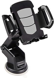 حامل الهواتف الذكية للسيارة، حامل هاتف محمول على شكل ذراع طويل شامل مع قاعدة تثبيت بالشفط لهواتف ايفون الذكية 3.5-6.5 انش،...