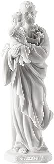 Saint Joseph Holding Baby Jesus Statue Sculpture (White)