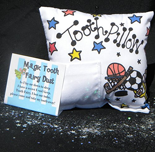 All Sport Tooth Fairy Pillow with Tooth Fairy Dust