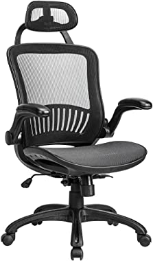 Office Chair Desk Chair Computer Chair Ergonomic Rolling Swivel Mesh Chair Lumbar Support Headrest Flip-up Arms High Back Adj