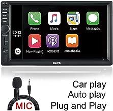DAYO Android Auto Carplay Radio Stereo Double Din Car Stereo Bluetooth Radio SA102