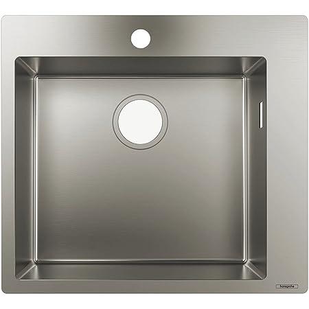 Hansgrohe 43301800 Fregadero de encastre, armarios de 60 cm, Color Acero, Plata, Ancho: 45 cm