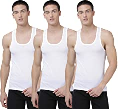 Levi's Men's 100% Cotton 100 CA Classic Solid White Vest- Modern Fit (Pack of 3)